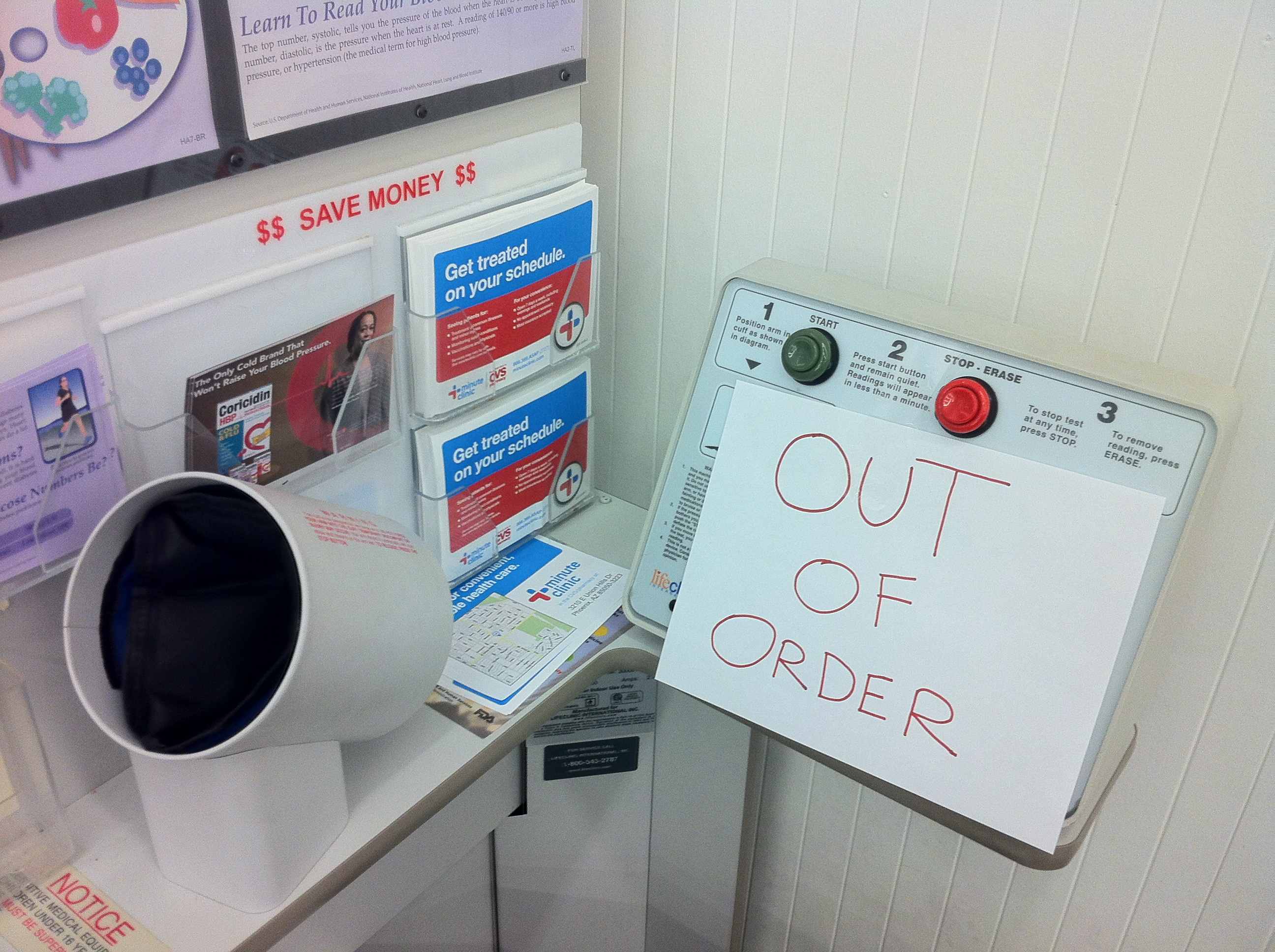 blood pressure machine at cvs